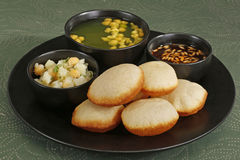 Panipuri or Gol Gappa or Chaat Stock Photography