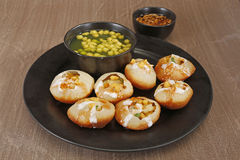 Panipuri or Gol Gappa or Chaat Royalty Free Stock Photography