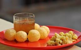 Panipuri - Golgape - Gupchup -食品项目 免版税图库摄影