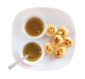 Panipuri snack also called gol gappa isolated Stock Photography