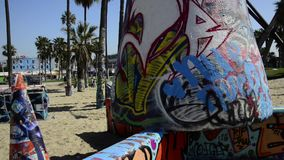 Paniramic of Venice Beach stock video