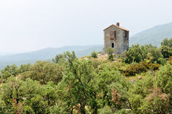 The Panissars blockhouse, Le Perthus, France. The Panissars blockhouse is a remaining of the war of the Pyrenees from March 1793 to July 1795 Royalty Free Stock Photography
