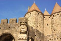 Paniusi ścierwo Carcassonne, Francja zdjęcia royalty free