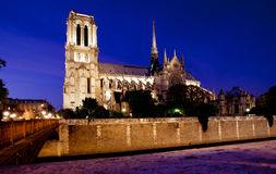 paniusi De Noc notre Paris widok Fotografia Royalty Free