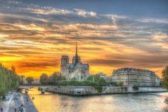 paniusi France notre Paris Zdjęcie Stock