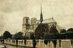 paniusi notre Paris Zdjęcie Royalty Free
