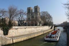 paniusi notre Paris Zdjęcia Royalty Free