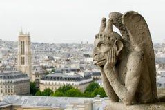 paniusia garguleca notre Paris Fotografia Stock