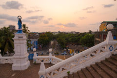 Panjim city view. View of Panjim city during sunset from the Our Lady of the Immaculate Conception Church stock photo
