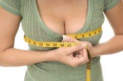 pank linje mätande kvinna Arkivfoto