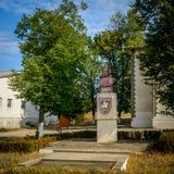 Pank monument Stephen III av Moldavien som är bekant som Stephen det stort moldova Royaltyfri Foto