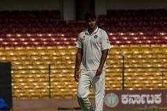 Pankaj Singh cricketer. Pankaj Singh, Rest of India fast bowler royalty free stock photo