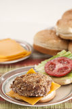 Panko Crusted Turkey Burger Royalty Free Stock Image
