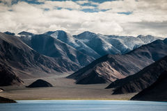 Pankong lake view lagakh india. Pankong lake view ladakh india Royalty Free Stock Photography