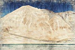 Pankongmeer Leh Ladakh India Digitaal Art Impasto Oil Painting royalty-vrije stock afbeeldingen