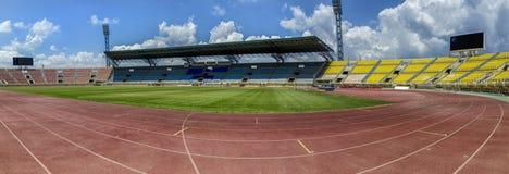 Pankritio体育场的全景在伊拉克利翁 库存照片