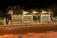 Pankt stopp på natten i i stadens centrum Phoenix Arkivbilder