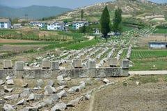 Panmunjom, Corea del Norte  Línea defensiva de la frontera paralelo 38 imagenes de archivo