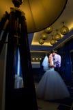 pannę młodą ceremonii ślub kościelny pana młodego zdjęcie stock