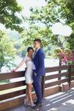pannę młodą ceremonii ślub kościelny pana młodego Obraz Stock