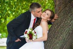 pannę młodą ceremonii ślub kościelny pana młodego Fotografia Stock