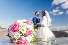 pannę młodą ceremonii ślub kościelny pana młodego Obrazy Royalty Free