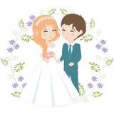 pannę młodą ceremonii ślub kościelny pana młodego ilustracji
