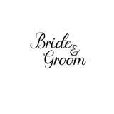 pannę młodą ceremonii ślub kościelny pana młodego handwritten Kaligrafia dla kartka z pozdrowieniami, ślubni zaproszenia ilustracji