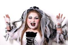 pannę młodą Halloween zombie Fotografia Stock