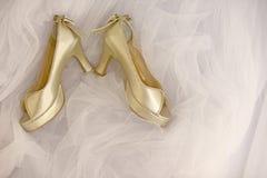 pannę młodą s buty Fotografia Royalty Free