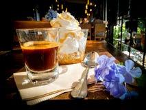 Panna жулика эспрессо стоковые фотографии rf