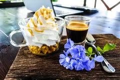 Panna жулика эспрессо стоковое фото rf
