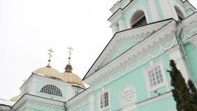 Panna av den ortodoxa kyrkan Skjutit medel stock video