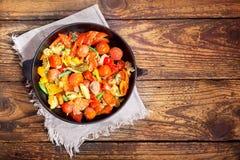Panna av grillade grönsaker Arkivfoto