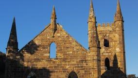 Panna av kyrkan på Port Arthur stock video