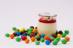 Panna Cotta Stockbild