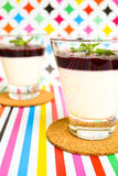 Panna Cotta Obraz Stock