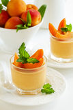 Panna cotta with apricots Royalty Free Stock Image