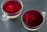 Panna cotta with berry coulis Stock Image