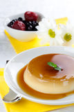 Panna cotta with caramel Royalty Free Stock Photo