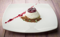 Panna cotta royalty free stock image