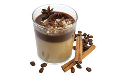 Panna cotta with cinnamon and coffe Royalty Free Stock Image