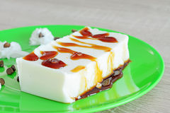 Panna cotta close up Royalty Free Stock Images
