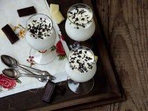 Panna cotta deliziosa del dessert Immagine Stock