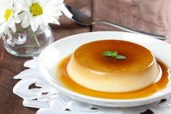 Panna cotta dessert stock images