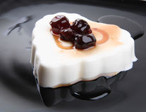 Panna cotta dessert Stock Photo