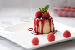 Panna cotta dessert Stock Photos
