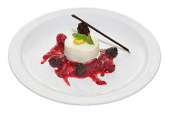 Panna cotta dessert Royalty Free Stock Photos