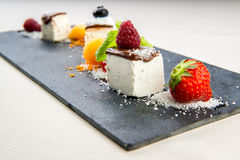 Panna Cotta dessert. Luscious Panna Cotta dessert close-up Stock Photos