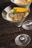 Panna cotta dessert Stock Photo